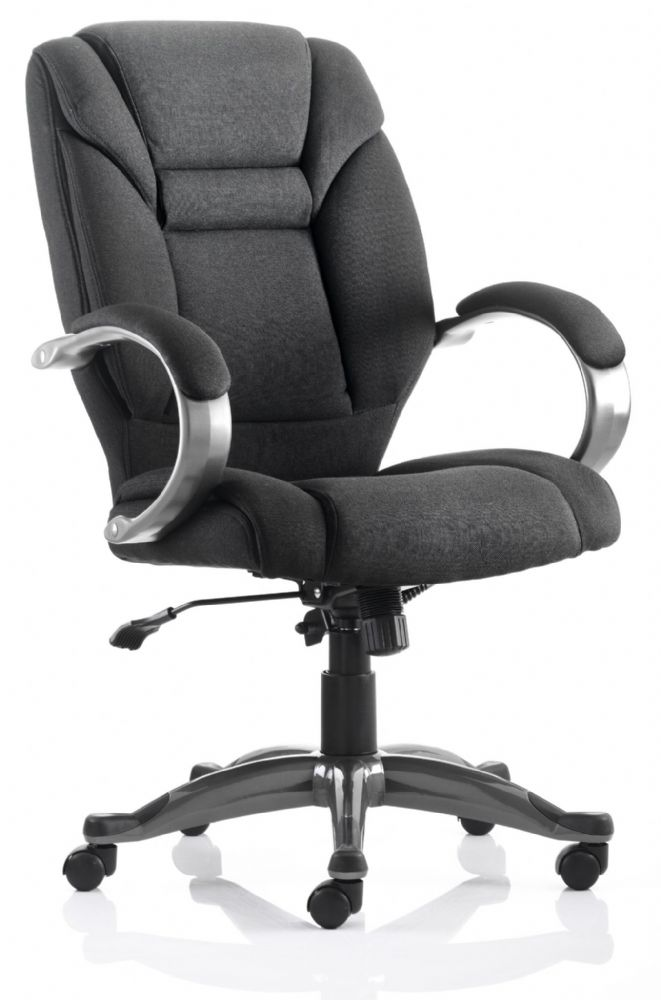 Galloway Highly Padded Executive Chair High Back Task Padded Fixed Arms Various Fabric Colours
